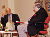 Don Mowatt in conversation with Dr Amyn B. Sajoo at the Vancouver launch of A Companion to Muslim Ethics IIS 2011.