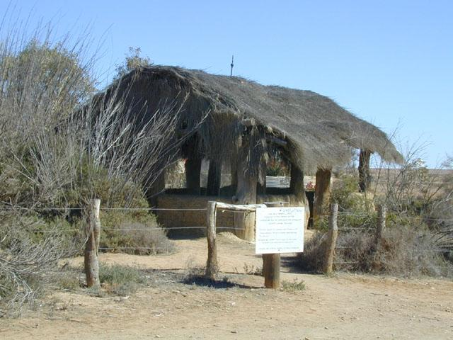 A mud mosque constructed by Afghan camel herders who settled in Australia in the late 19th century.