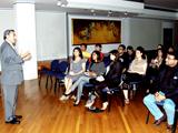 Shiraz Kabani addressing the participants at the Ismaili Centre London