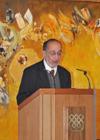 Professor Abbas Hamdani at the launch for the Hamdani Collection Catalogue IIS 2011