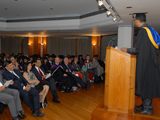 Alpesh Anwar Ali presenting the student reflections,IIS 2014.