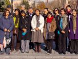 Group photo of the Alumni in front of te Hagia Sofia; IIS 2013. Photography by Farzad Kadkhoda