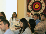 Alumni listening to presentations on the traditions and cultural practices of the Ismailis in Central Asia IIS 2011.