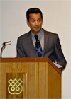 Dr Fayyaz Vellani delivering his address; IIS 2012
