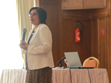 Dr Shainool Jiwa gives her talk at the 2014 ECG meeting in Tunisia.