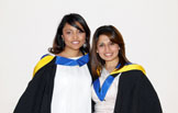 'Outstanding STEP Student Award' winners Faiza Damji and Muniza Ahmed 2011.