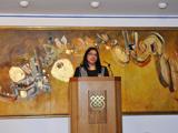 Dr Laila Halani gives her welcome address.