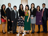 GPISH Graduands. From left to right: Waad Al-Jarf, Sehr Tejpar, Al-Amin Kheraj, Inayat Ullah, Zuleikha Haji, Rahila Muhibi, Safina Abbas, Tanya Panjwani, Sahir Dewji, Wisam Elhamoui; IIS 2012