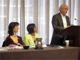 Dr Simonetta Calderini, Dr Shainool Jiwa and Professor Paul E. Walker at MESA 2012
