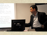 Dr Najam Abbas giving his presentation at the University of Lincoln