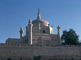 The mausoleum of Pir Sadardin, an Ismaili da'i, in Uch Shariff, Pakistan (1987)