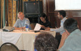 Prof. O'Kane, Ms Noor Ali and Mr Hirji at the Academic Seminar