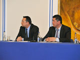 L to R: Amier Saidula and Hakim Elnazarov taking part in the panel discussion IIS 2011.