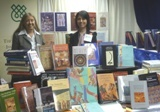 Patricia and Nadia at the IIS book exhibit