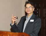 Dr Abdulkader Tayob speaking at the Alumni Academic Seminar 2010.