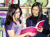 The first interns, Farah Virani-Murji (Canada) and Laila Pirani (Pakistan/UAE) with the Department of Curriculum Studies
