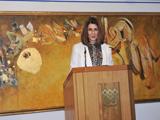 Farhana Mayer gives the closing remarks.