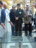 Dr El Bizri at shrine of Ibn Sina
