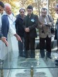 Dr El Bizri at shrine of Ibn Sina
