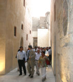 Alumni walking through Darb al-Ahmar