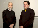 Stephen Burge Research Associate Quranic Studies Unit with lecturer C Melchert IIS 2011
