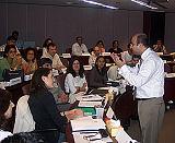 Farid Panjwani engaging  participants in discussion