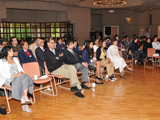 The audience at the launch of Fortresses of the Intellect at the Ismaili Centre, Burnaby, Canada