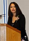 Zuleikha Haji delivering her valedictorian speech; IIS 2012.