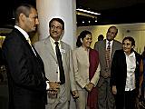 Prince Rahim Aga Khan meets guests at the graduation reception
