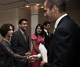 Prince Rahim Aga Khan congratulates the graduates