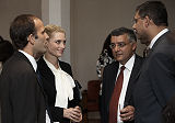 Prince Hussain Aga Khan and Princess Khaliya Aga Khan meet with guests