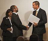Prince Rahim Aga Khan presented the graduates with certificates