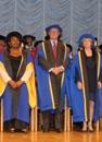 Honorary Graduands Marjorie Blackman, Richard Martineau and Lady Elizabeth Vallance
