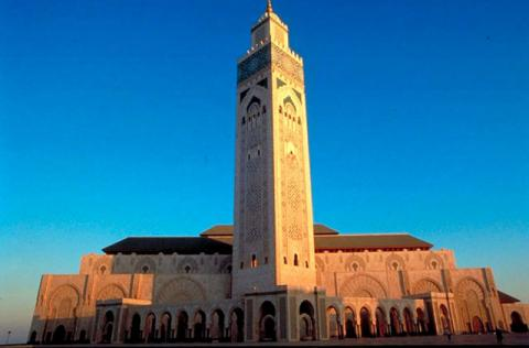 The Mosque of Hasan was founded by the Almohad ruler Ya'qub al-Mansur, who began the mosque in 1191, concurrently with the foundation of the city of Rabat. Eight years later al-Mansur died and the hypostyle mosque, which would have been one of the largest in the world, was left unfinished. The partly preserved minaret illustrates the monumental scale on which the mosque was designed.