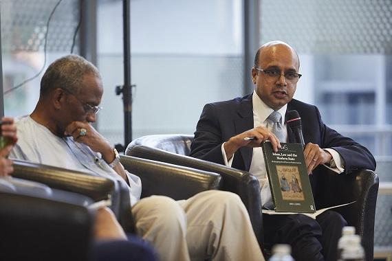 Dr Arif A. Jamal responding to comments at the launch of his book. Photo: Courtesy of the National University of Singapore, Faculty of Law.