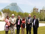 Chapter Group Leaders and Speakers, against the backdrop of The Ismaili Centre, Toronto