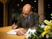 Amyn Sajoo book signing